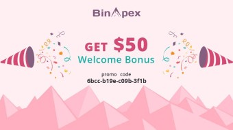 Binapex Cryptocurrency Exchange Sign Up and get $50 to your account!