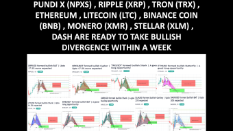 MID TERM TECHNICAL ANALYSIS OF PUNDI X (NPXS) , RIPPLE (XRP) , TRON (TRX) , ETHEREUM , LITECOIN (LTC) , BINANCE COIN (BNB) , MONERO (XMR) , STELLAR (XLM) , DASH