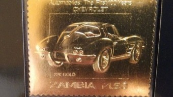 Trumpman's Treasury #1 - 22K Carat Gold Classic Car Stamps