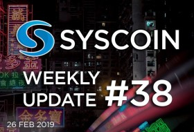 Syscoin Weekly Update #38
