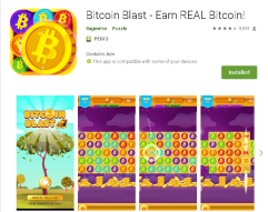 Bitcoin Blast - cool little game that pays up to 100 satoshi a day
