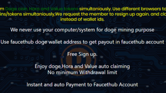 Auto claim unlimited doge, Hora and Value tokens with no captcha and ads.