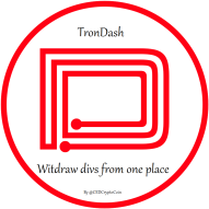 TronDash manage your witdraw divs from one place