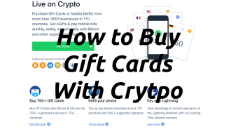 How to Buy Gift Cards With Crypto