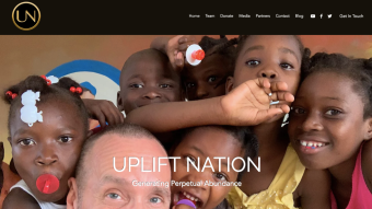 UN's New & Improved Homepage @upliftnation.io