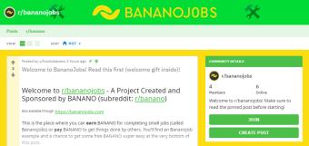 BananoJobs: Uma simples plataforma, usando pagamentos em BANANO para MicroTarefas e Bounties