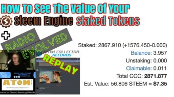 How To View The Value Of Your Staked Steem Engine Tokens & Radio Evolved LIVE! Replay