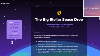 Keybase + Stellar Lumens MEGA Airdrop! (20 USD approx)
