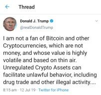 Bitcoin VS Trump