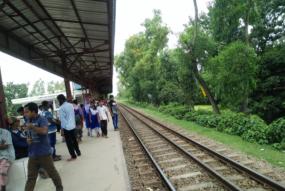 A beautiful railway station in Bangladesh