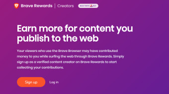 How to sign up for a Brave Creators account