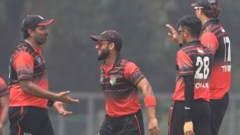 Zimbabwe lost by 4 runs to Singapore .