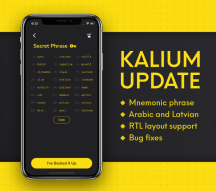 Kalium (BANANO's mobile wallet) v2.0.9 Released: Introducing Mnemonic Phrases, RTL Layouts, and More!