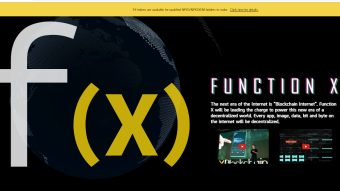 FUNCTION X PLATFORM,SPEARHEADING THE MISSION OF DECENTRALIZATION