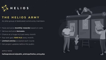 THE HELIOS ARMY: GEAR UP FOR GREATNESS