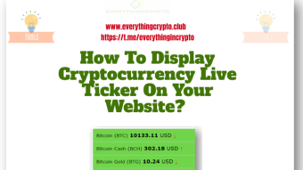How to display cryptocurrency live ticker on your website?