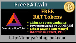 FreeBAT.win, Get Free BAT Tokens | Claim Free BAT Tokens every 2 Minutes | Get Free 1 BAT daily by shortlinks