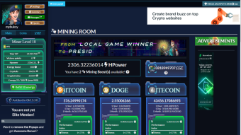 Cryptomininggame big review, card game, multiple revenue sources, faucet