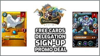 Splinterlands | July 2020 Sign-Up Promo Deal