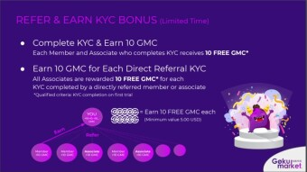 Get 10 GMC($5) as Early Signup~ With Payment Proof