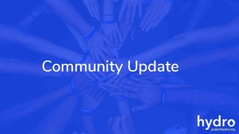 Hydro Community Update: 16/10/19