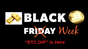 Bitcoin BlackFriday Blues: Bottom drops below 8K to support Cashouts for Gifts, Education