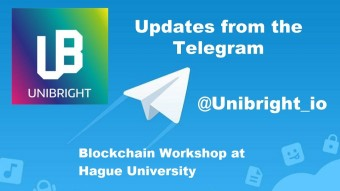 Unibright - 26th of September 2019 - Blockchain workshop at Hague University for the second year in a row