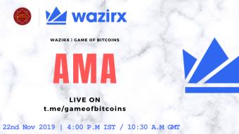 AMA Recap - WazirX x Game of Bitcoins