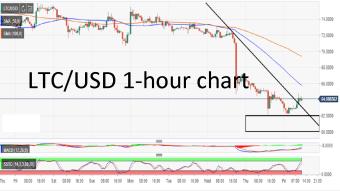 Litecoin market update: LTC/USD sluggish above $62