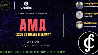 AMA Recap - Credits x Game of Bitcoins