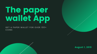 Crypto Paper Wallet - free service!