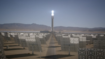 Scientific innovations for human problems [Energy supply]. SolarReserve (mirrors + molten salt) (or 75, 000 homes powered with solar energy, 24/7)