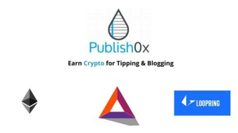 Ethereum integrated as tipping coin in Publish0x.