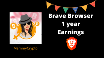 My BAT earnings after 1 year using Brave Browser