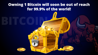 Owning 1 Bitcoin will soon be out of reach for 99.9% of the world!