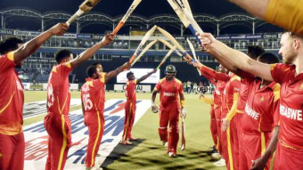 On the day of Masakazza's departure, Zimbabwe left the field with a win.