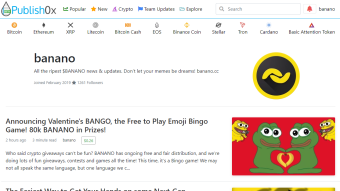 Reminder: BANANO Airdrop to all Publish0x Users Ends Today! Prize Pool Doubled to 100k $BAN!