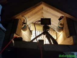 Setting up my actioncam inside the bee house