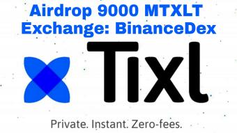 Airdrop 2.38745 MTXLT (~ $45) - 1 MTXLT equals 1 million TXLT