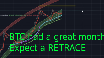 BTC: A GREAT Month. Expect A Retrace. But Full Steam Ahead!