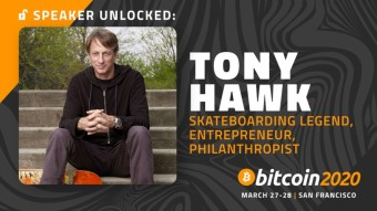 Tony Hawk to Speak at Bitcoin 2020