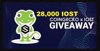 CoinGecko & IOST 28,000 IOST Give-Away 9-Days Left From Today!