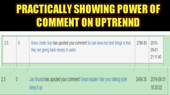 Uptrennd Comment Earning 154$/Month -I Earn 246 1UP By Just Commenting On OC Post Per Day