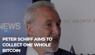 That's one way to collect 1 whole Bitcoin ... Gold Bug Peter Schiff now accepting Bitcoin donations.