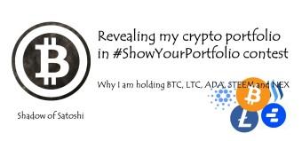 Revealing my crypto portfolio in #ShowYourPortfolio contest