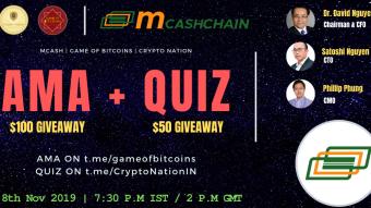 AMA Recap - MCashChain x Game of Bitcoins