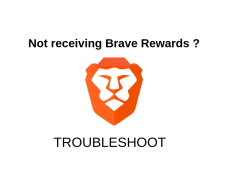 Brave Rewards not working? Download the latest version and problem solved!