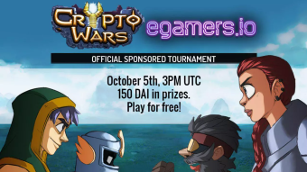 Register Now Your Seat on The CryptoWars x egamers.io #2 Tournament And Claim $150 in DAI Prizes