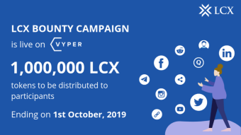 Campaign 1,000,000 LCX Token - LCX Powered Of Blockchain Technology to the Finance and Banking Industry.