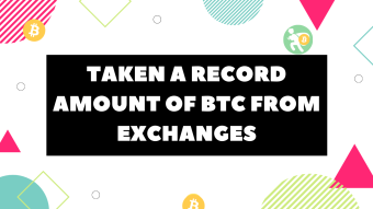 Taken a record amount of BTC from exchanges